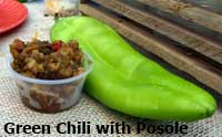Green Chili with Posole samples at the Chili Fest