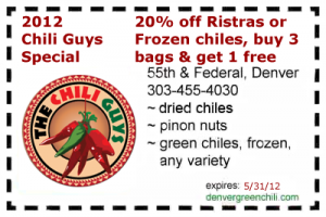 The Chili Guys 20% off coupon