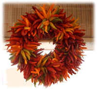 Ristra Tri-color wreath