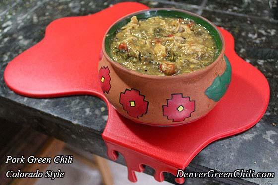 Pork Green Chili Colorado Style Denver Green Chili