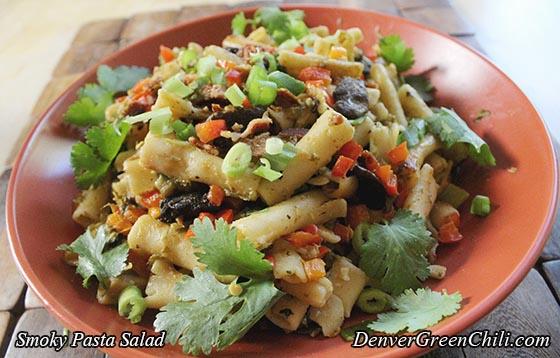Smoky Pasta Salad - Denver Green Chili
