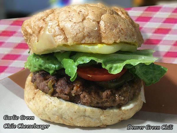 Garlic Chile Cheeseburgers - Denver Green Chili
