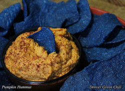 Pumpkin Hummus for Game Day parties