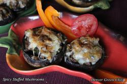 Spicy Sausage Stuffed Mushrooms
