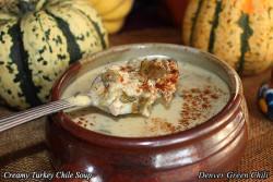 Cream of Chile Turkey Soup