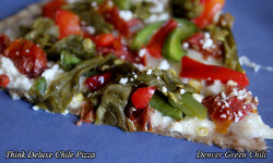 Thin Deluxe Chile Pizza