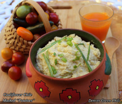 Cauliflower Chile Mashed Potatoes