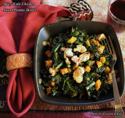 Spicy Kale Chicken Sweet Potato Skillet