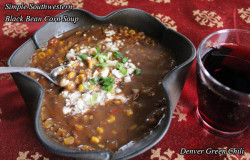 Siimple Southwestern Black Bean and Corn Soup is tasty, satisfying, and can be thrown together in under 5 minutes with ingredients that keep in your pantry