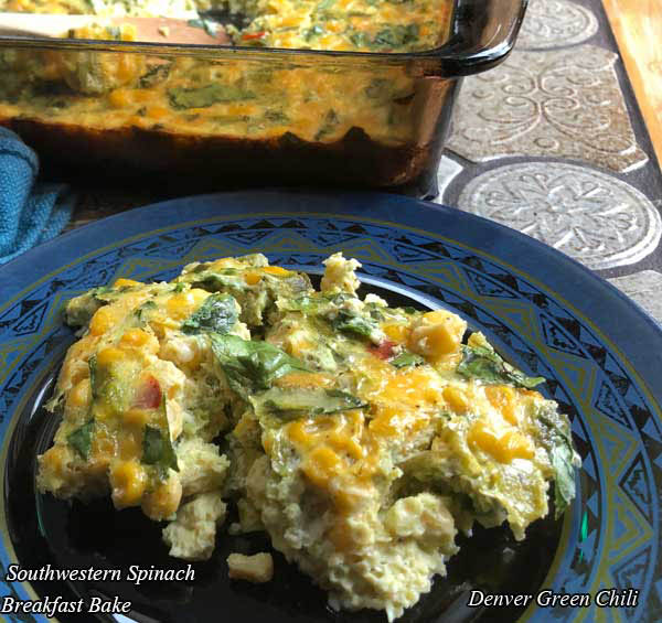 Southwestern Spinach Breakfast Bake