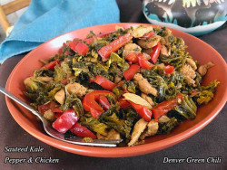Sauteed Kale Pepper and Chicken