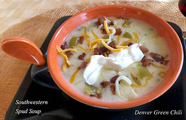 Southwestern Spud Soup with BAcon
