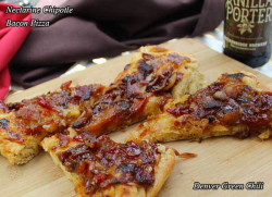 Nectarine Chipotle Bacon Pizza