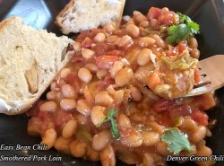 Bean Chili Smothered Pork Loin