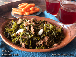 Kale with Shredded Pork