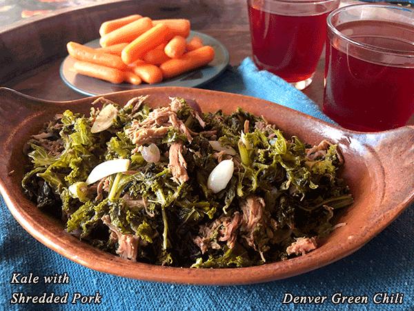 Kale with Shredded Pork