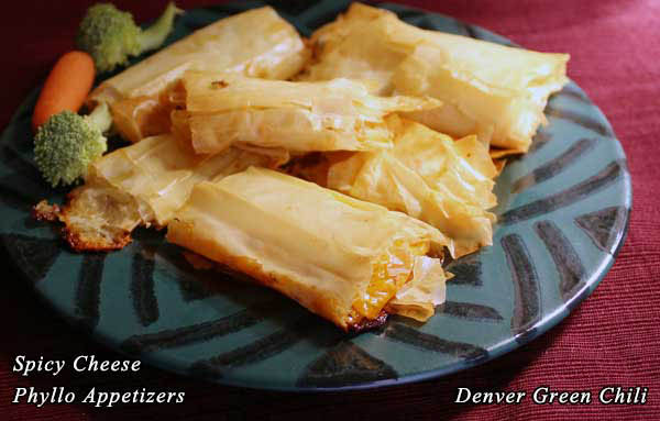 Spicy Cheese Phyllo Appetizers
